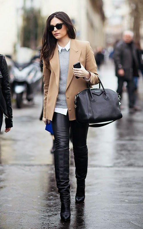 Leather Leggings Winter Fashion 1 Fashion Trends And Street Style People Styles