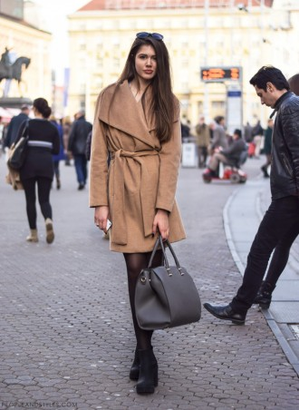Camel coat, never too young, never too old to wear it, street style fashion, photo by peopleandstyles.com