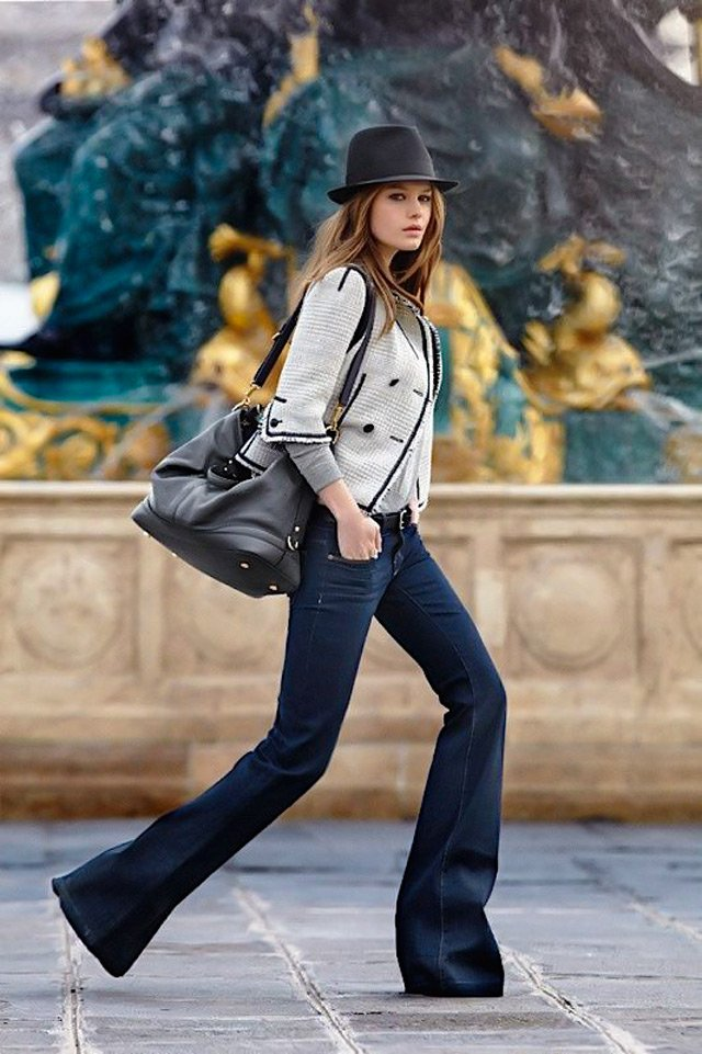 People & Styles spring street style trend: how to wear flared jeans