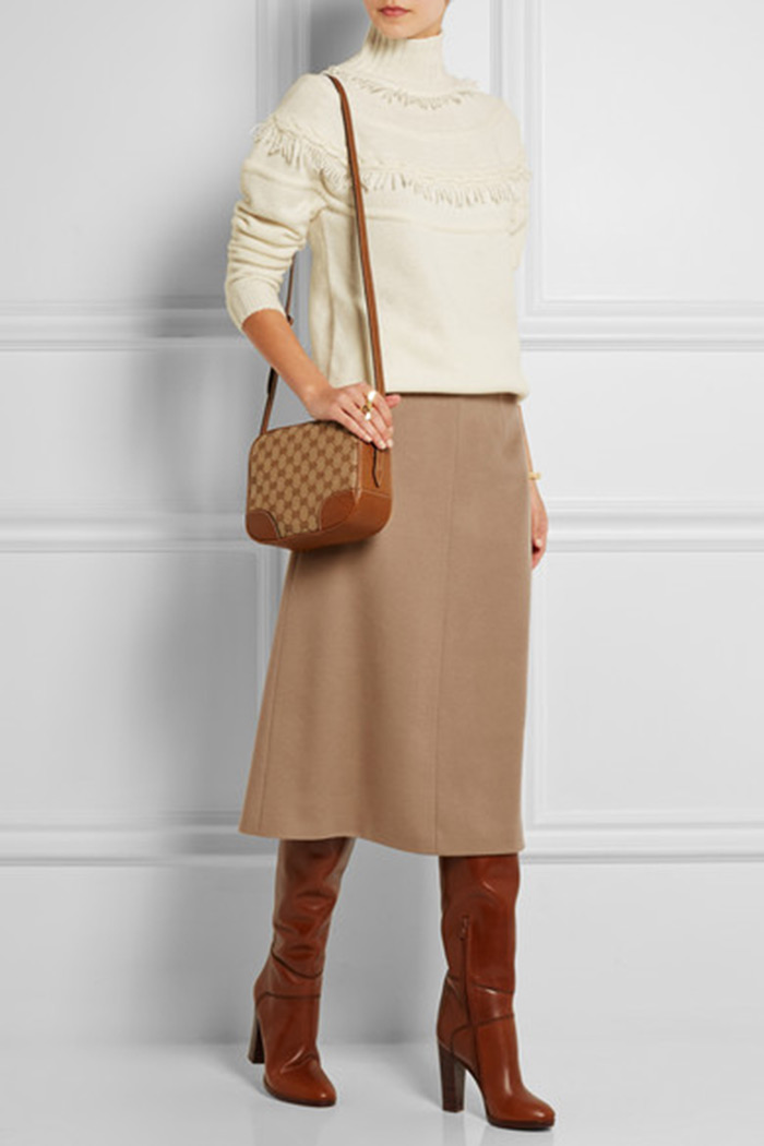 Wear to Work: Midi Skirt, Agnona cashmere midi skirt