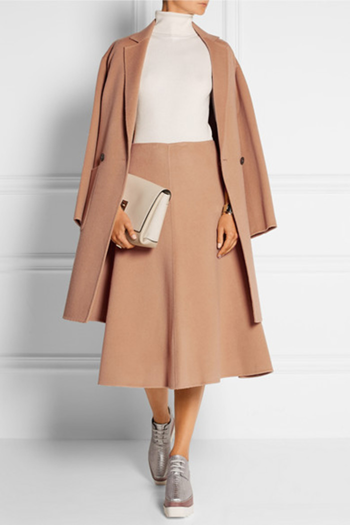Wear to Work: Midi Skirt, Theory Uthema wool and cashmere-blend felt midi skirt