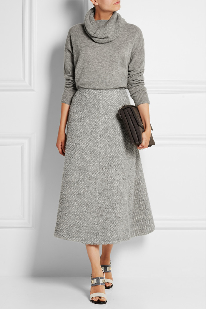 Wear to Work: Midi Skirt, Emilia Wickstead's light-gray 'Serena' skirt