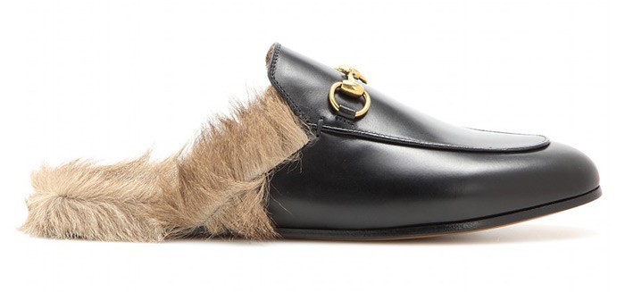 aa201d5720b Gucci Kangaroo-Fur-Lined Slippers  streetstyle  Paris  pfw by  peopleandstyles.