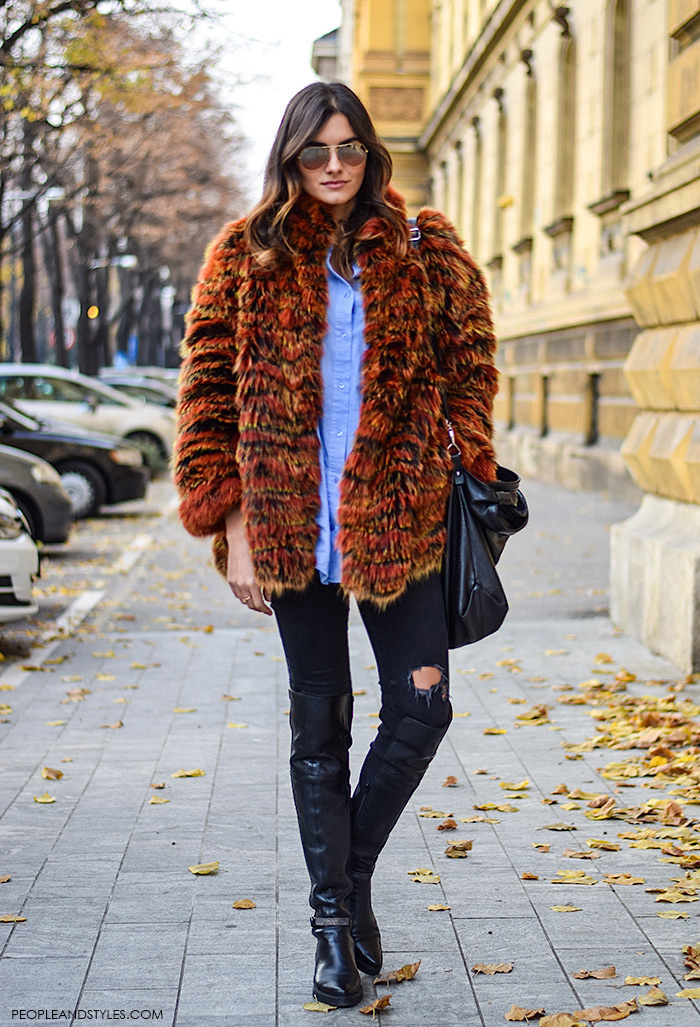 street-style-fashion-autumn-2015-multicolor-faux-fur-coat-people