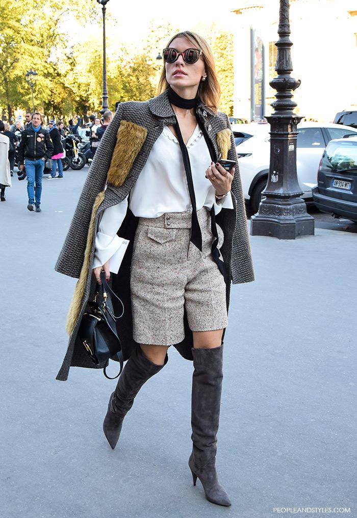 how to wear over the knee boots, Saint Lauren, street chic look