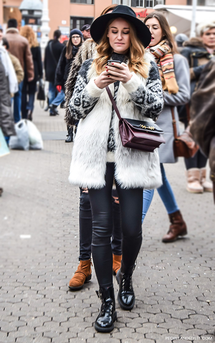 Chic Winter Outfits With a Faux Fur Gilet – People & Styles