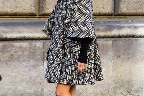 Looking So Chic in a Bell Sleeve Coat by PeopleandStyles.com #streetstyle #Paris #fashion