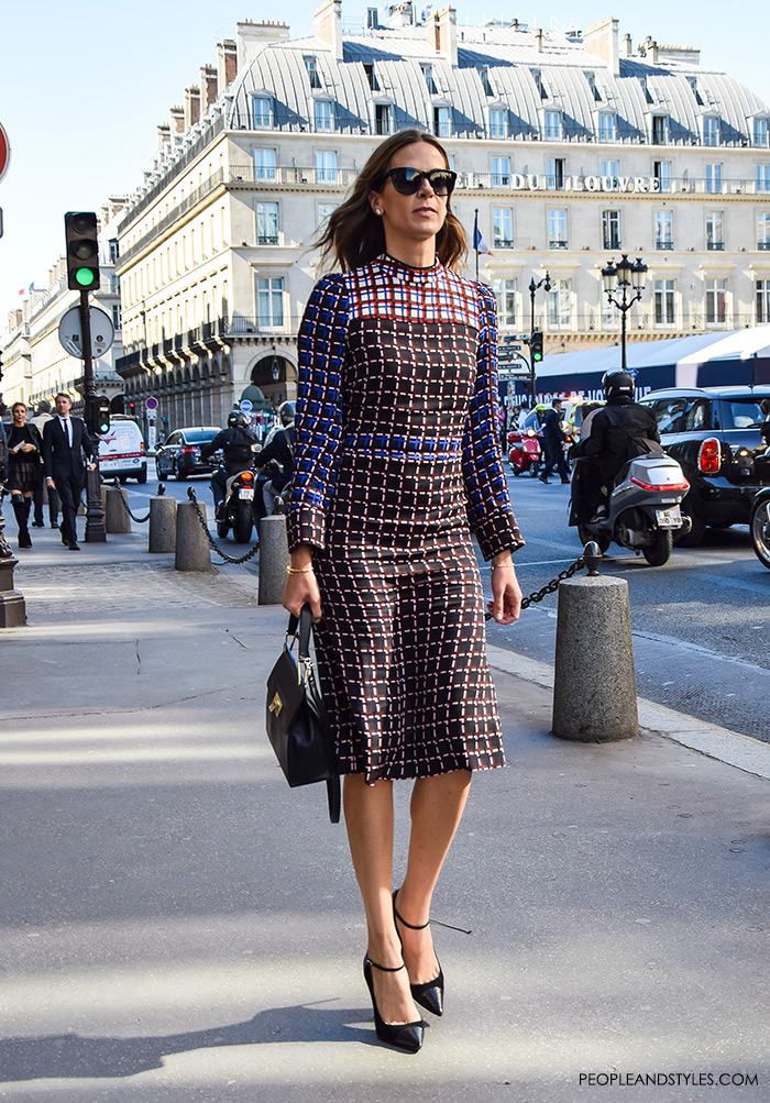 Fashion Wear To Work Printed Crepe Midi Dress Marni Paris Street Style Peopleandstyles Com 4