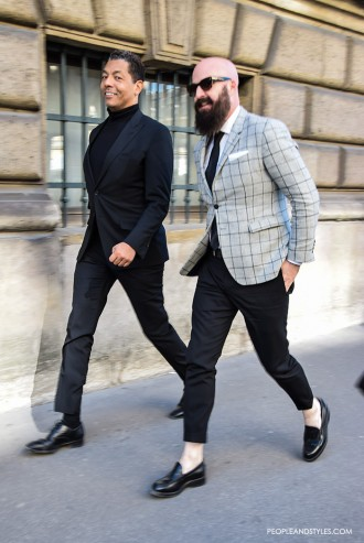 Men's Street Style Fashion: Slim Blazers and Cropped Pants
