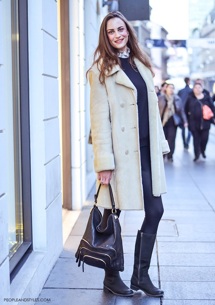 how to wear cream shearling coat – Fashion Trends and Street Style