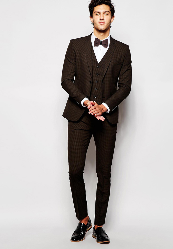 Men's fashion: how to wear blazer and suit in color orange, burgundy, brown