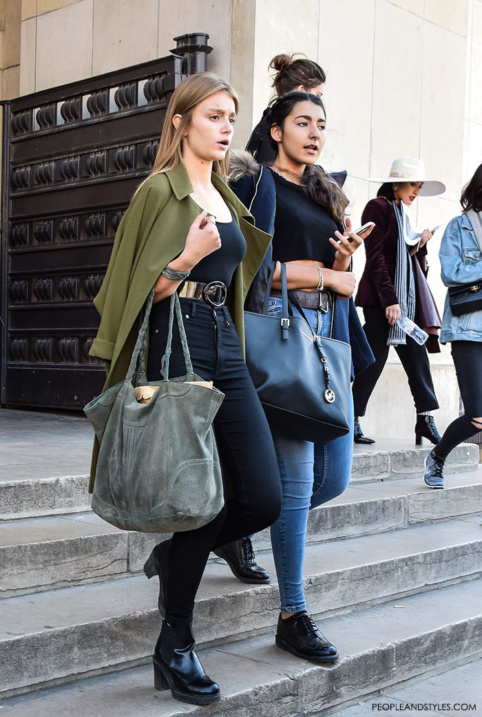 Paris street style Parisien chic girls, women's fashion