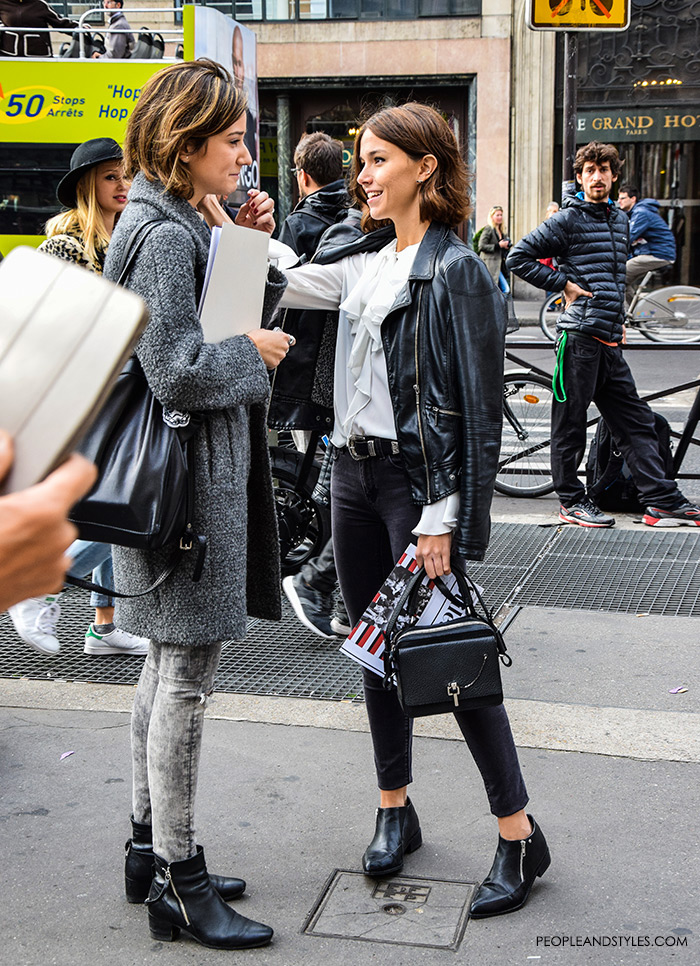 Street Style: Chic Parisian Girls by PeopleandStyles.com