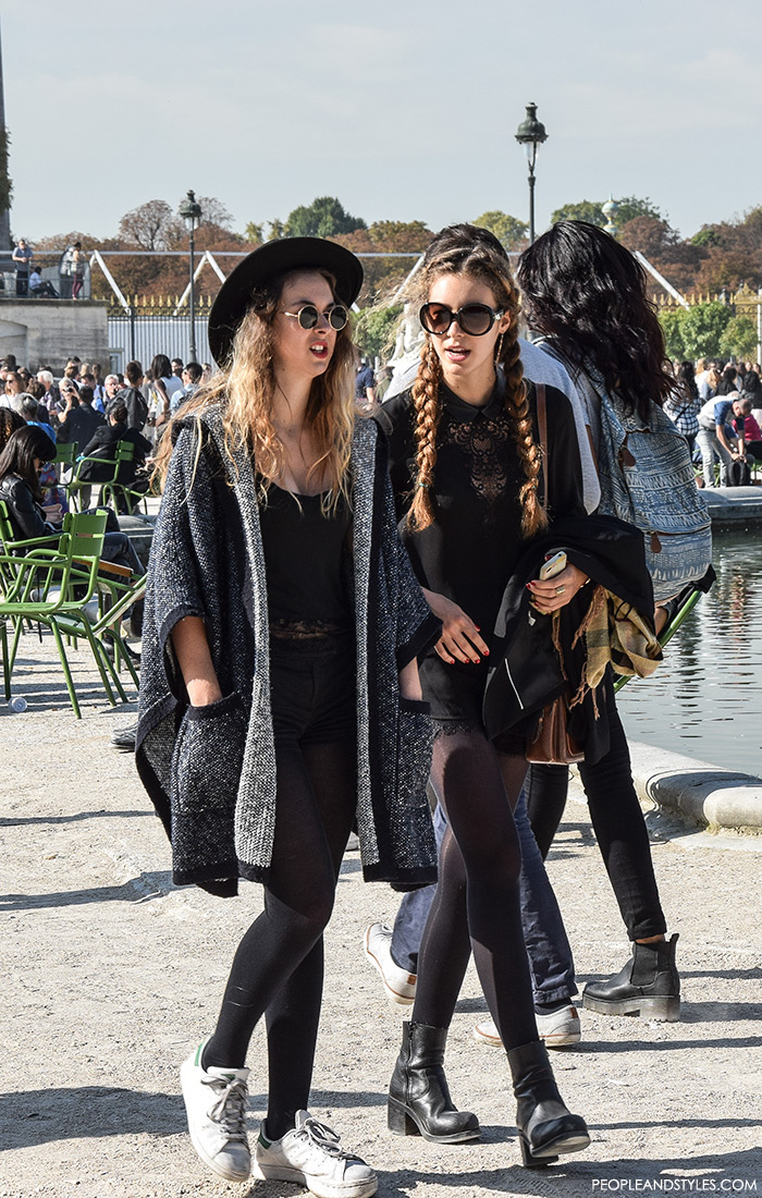 Paris street style Parisien chic, how to wear braids