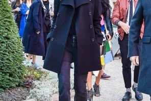 Emmanuelle Alt wearing a Pea Coat - Now is the Best Time to Buy it for the Next Season by PeopleandStyles.com