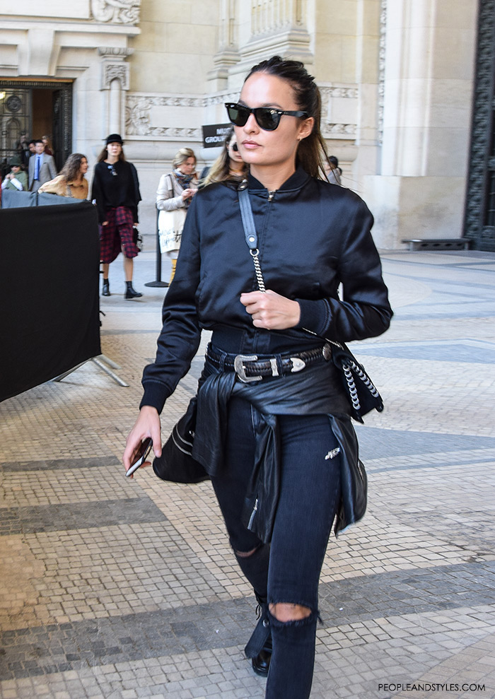 How to style black bomber jacket – Modern fashion jacket photo blog