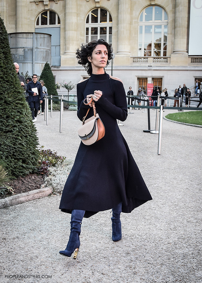 Christine Centenera instagram pinterest and Yasmin Sewell wearing Celine Backless Knit Dress
