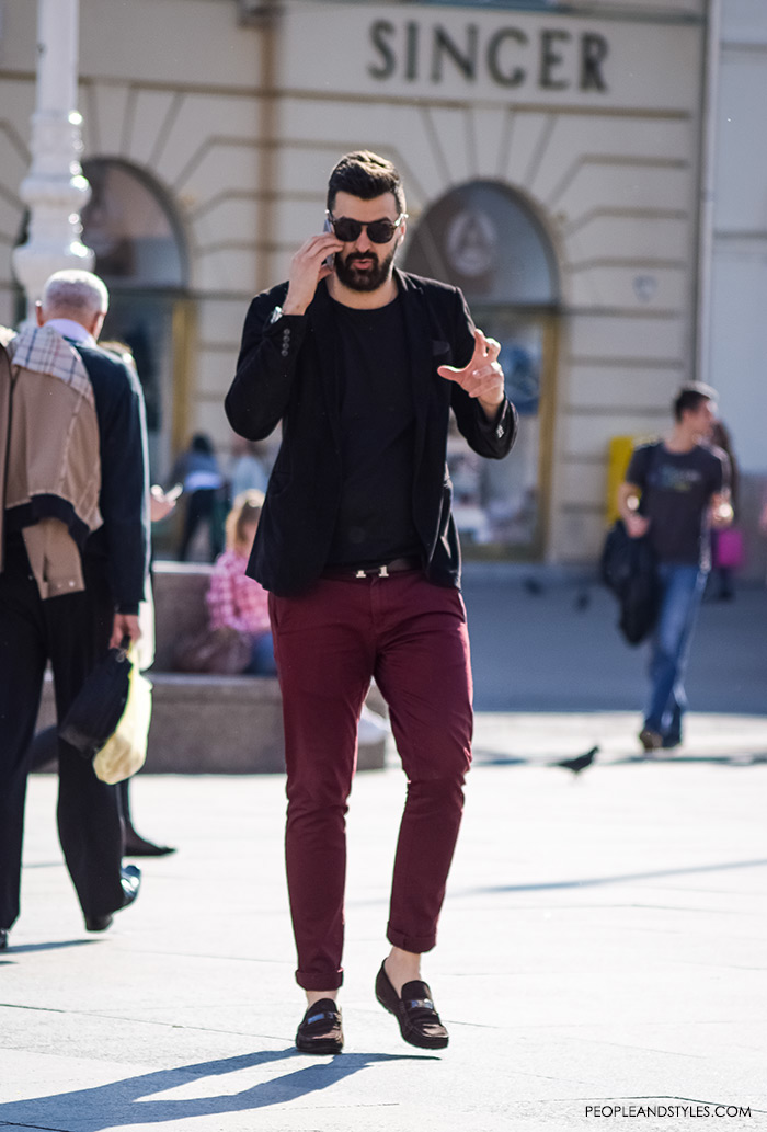 Best Style Men, mens styling, very nice looking and smart boys pictures best men style, latest gentleman fashion, mens stylish outfits, how to wear bleck cotton blazer and red jeans for guys