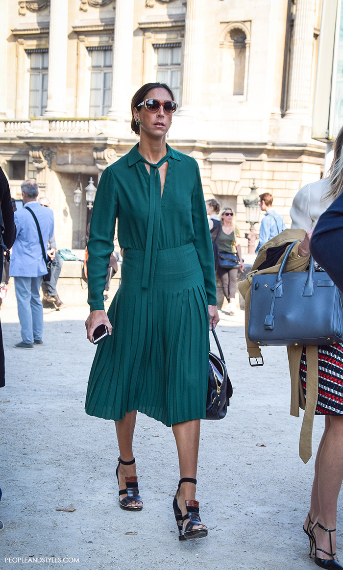 Perfect Midi Green Dress To Wear To Work Fashion Trends And Street Style People Styles