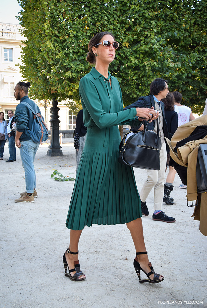Wear To Work Green Dress Street Style Peopleandstyles 2 Fashion Trends And Street Style