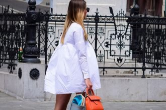 Outfit Idea: Gladiator Sandals and a Mini White Dress by PeopleandStyles.com