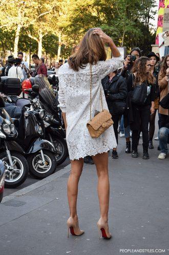 Perfect Pair: Mini White Dress and Neutral Pumps