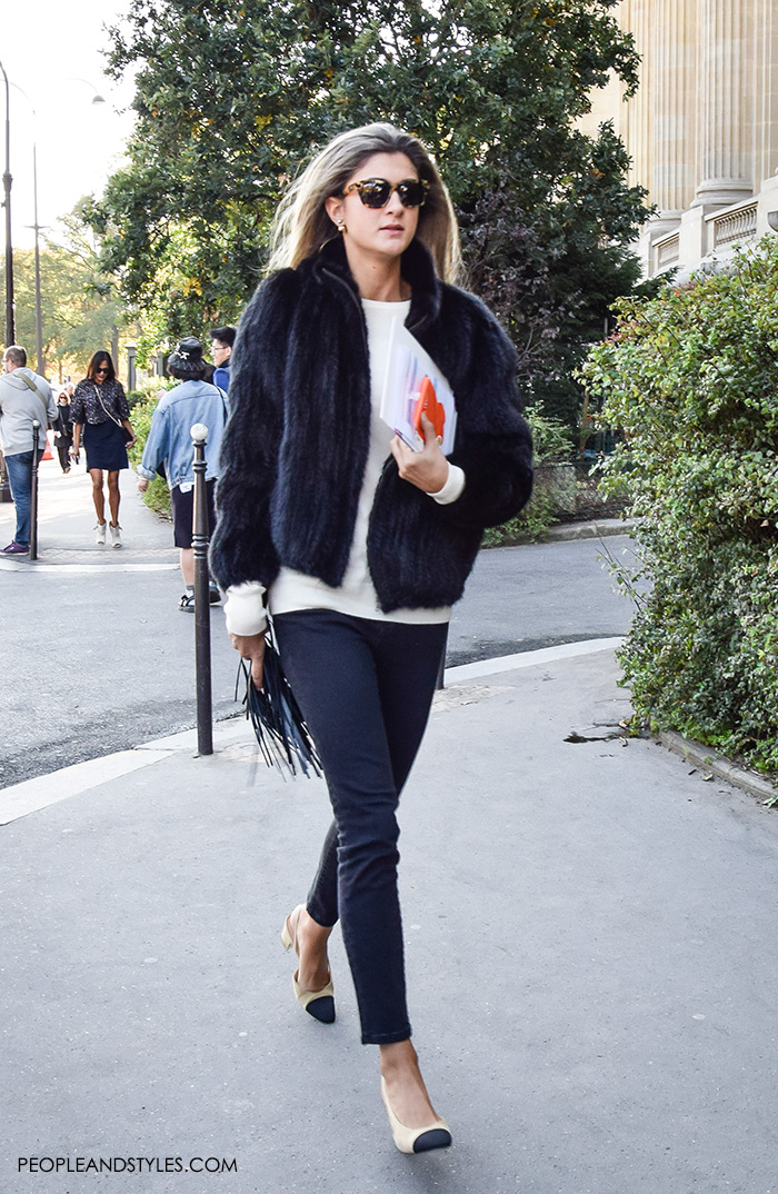 They are Wearing Chanel Granny Slingbacks. Street style outfits from Paris Fashion Week, Pinterest paris people street images