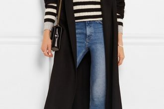 Gucci Shearling-Lined Slippers and Cropped Denim