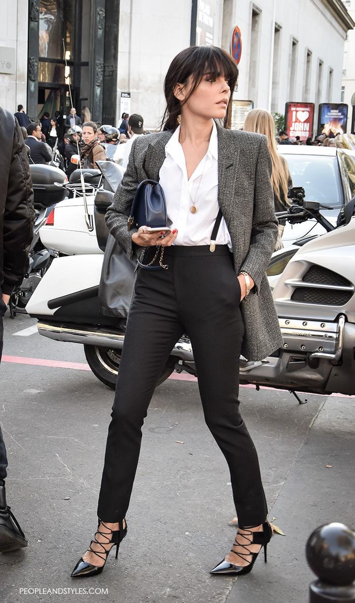 Evangelie Smyrniotaki, Grey Blazer - Modern Working Girl Wardrobe Staple – Fashion Trends and Street Style - People & Styles