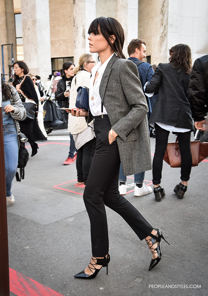 Evangelie Smyrniotaki, Grey Blazer - Modern Working Girl Wardrobe Staple – Fashion Trends and Street Style - People & Styles