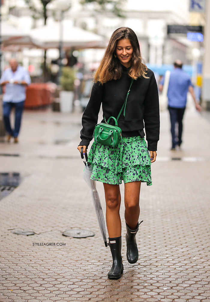 Shopping Idea Get This Street Look Frill Mini Skirt Wellies